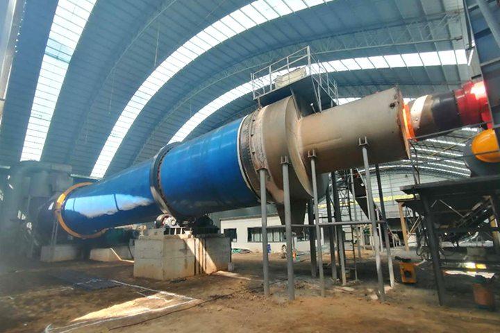 陕西彬县闻达燃料有限公司小时80吨煤泥烘干机