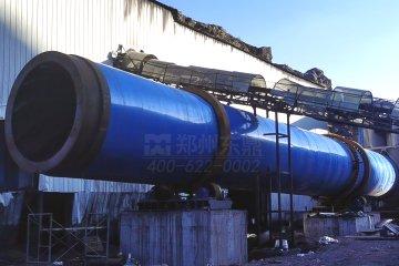 山西盛基能源大型煤泥烘干机现场迎来安装施工高峰!