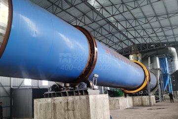精彩十月山西怀仁1500吨煤泥烘干机投入试机!