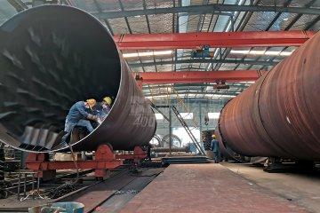 内蒙古准旗薛家湾1000吨煤泥烘干机项目紧张排产备货中!
